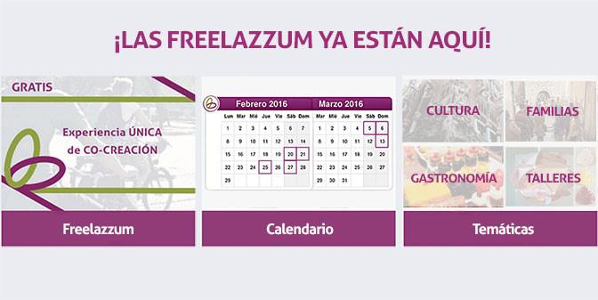 ¡Las Freelazzum ya están aquí!. Con el calendario y las diferentes temáticas de actividades organizadas para el mes de febrero y marzo (cultura, familias, gastronomía, talleres)