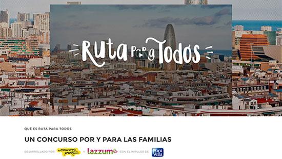 Ruta para todos: un concurso por y para las familias diseñado por Mammaproof y lazzum, con el impulso de Font Vella. ¡Participa en www.rutaparatodos.com!