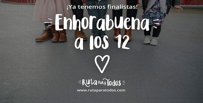 ¡Ya tenemos los 12 finalistas de #RutaparatodosBCN!